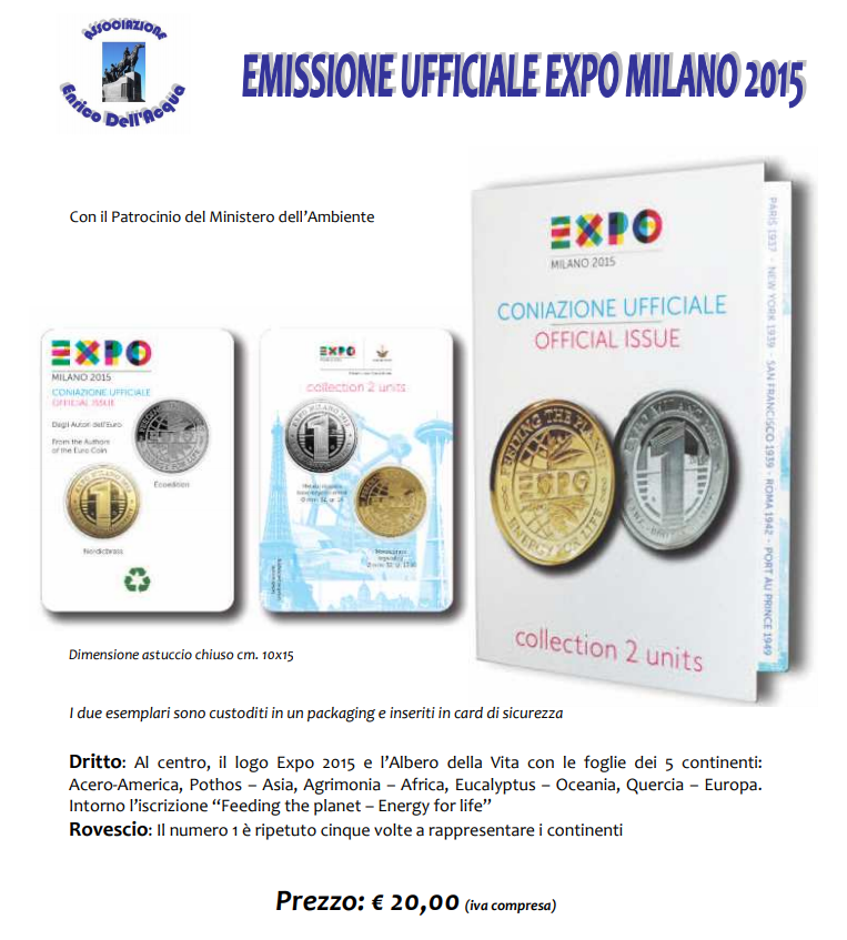 Medaglie EXPO 2015