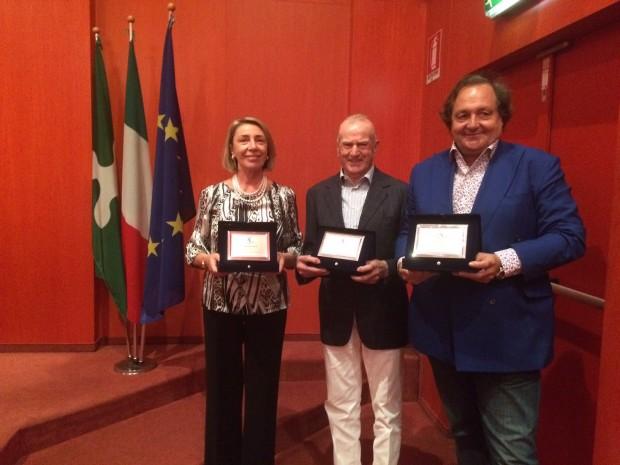 I premiati Antonella Gisti, Lino Faccincani e Gigi Farioli