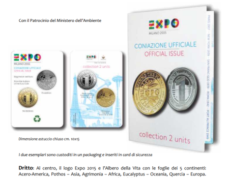 Emissione Ufficiale Medaglie EXPO 2015